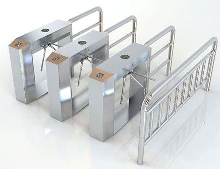 Double Direction Speed Gate Turnstile SUS304 With IC / ID Card Readers