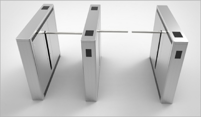 CE Approved Train Station Drop Arm Turnstile With Fast Speed  Entry Systems