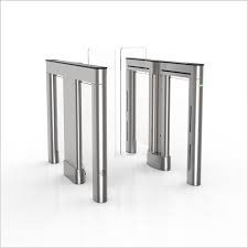China 304 Stainless Steel Controlled Access Turnstiles Semi - Auto  Indoor Or Outdoor supplier