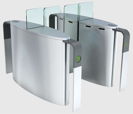 China Automatic Access Control Pedestrian Turnstile Gate 1.5 mm Thickness Cover supplier