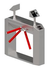 SUS316 Tripod Turnstile Gate With Vibration Absorber