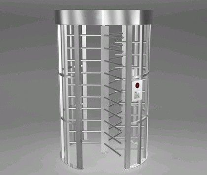 China Pedestrian Rotating Full Height Turnstile 500mm 316SS  With LED Direction Indicators distributor