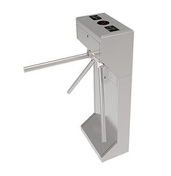 China Smart Controlled Access Train Station Turnstile With Reading Card distributor