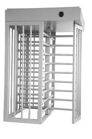 Entrance Control Full Height Turnstile Security Turn Style Door With Double Passage