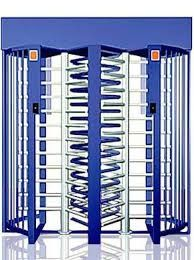 China Entrance Control Full Height Turnstile Security Turn Style Door With Double Passage supplier