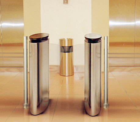 China Fingerprint Automatic Systems Turnstiles 1.5 mm Cover  Pedestrian Turnstile Gate factory